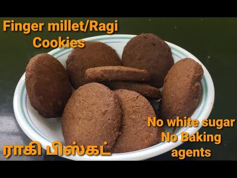 Ragi/Finger millet cookies/No baking agents/No white sugar/Healthy teatime snacks/veega kitchen - YouTube