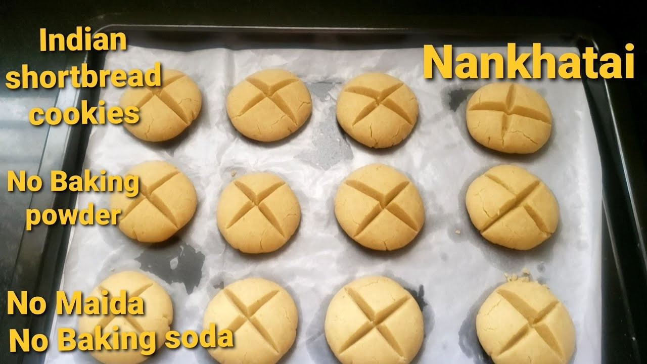 Indian shortbread cookies/Easy Nankhatai/No Maida/No Baking Soda/No Baking powder. - YouTube