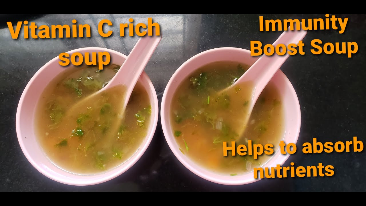 Vitamin C rich soup/Lemon Coriander soup/Helps to absorb nutrients/Immunity booster soup. - YouTube